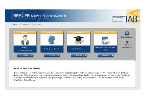 Die neue Internetseite zur Arbeitsmarktstatistik